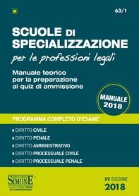 Scuole di Specializzazione per le Professioni Legali - Manuale - Librerie.coop