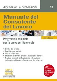 Manuale del Consulente del Lavoro - Librerie.coop