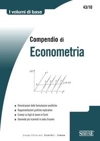 Compendio di Econometria - Librerie.coop