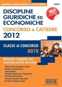 Discipline giuridiche ed economiche - Concorso a cattedra 2012 (A019) - Librerie.coop
