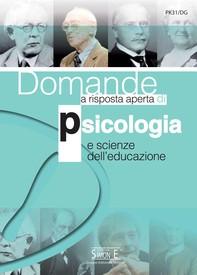 Domande a risposta aperta di Psicologia e scienze dell'educazione - Librerie.coop