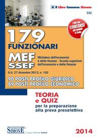 179 funzionari MEF - SSEF (Ministero dell'Economia e delle Finanze Scuola superiore dell'Economia e delle Finanze) - Librerie.coop