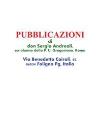 Pubblicazioni di don Sergio Andreoli, ex-alunno della P. U. Gregoriana, Roma - Librerie.coop