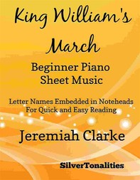King William's March Beginner Piano Sheet Music - Librerie.coop