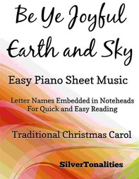 Be Ye Joyful Earth and Sky Easy Piano Sheet Music - Librerie.coop