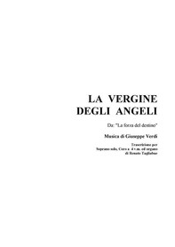 LA VERGINE DEGLI ANGELI - For Solo, SATB Choir and organ - Librerie.coop