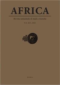 Africa. N.S. III/1, 2021 - Librerie.coop