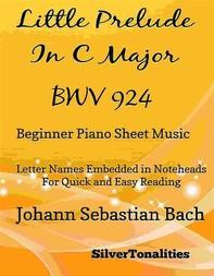 Little Prelude in C Major BWV 924 Beginner Piano Sheet Music - Librerie.coop