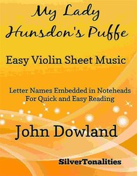 My Lady Hunsdon's Puffe Easy Violin Sheet Music - Librerie.coop