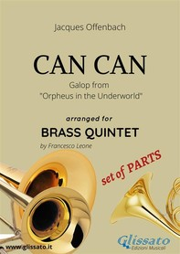 Can Can - Brass Quintet - set of PARTS - Librerie.coop