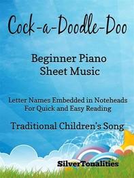 Cock a Doodle Doo Beginner Piano Sheet Music - Librerie.coop