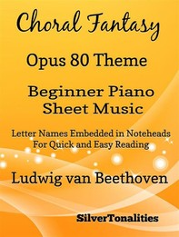Theme from Choral Fantasy Opus 80 Beginner Piano Sheet Music - Librerie.coop