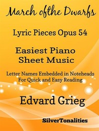 March of the Dwarfs Lyric Pieces Opus 54 Easiest Piano Sheet Music  - Librerie.coop