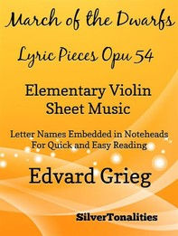 March of the Dwarfs Lyric Pieces Opus 54 Elementary Violin - Librerie.coop