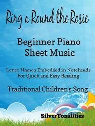 Ring Around the Rosie Beginner Piano Sheet Music - Librerie.coop