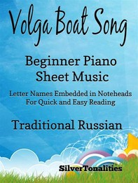 Volga Boat Song Beginner Piano Sheet Music - Librerie.coop
