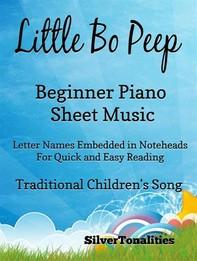 Little Bo Peep Beginner Piano Sheet Music - Librerie.coop