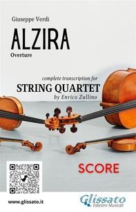 Alzira (overture) String Quartet score - Librerie.coop
