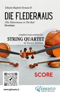 Die Fledermaus (overture) string quartet score - Librerie.coop
