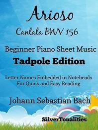 Arioso Cantata BWV 156 Beginner Piano Sheet Music Tadpole Edition - Librerie.coop