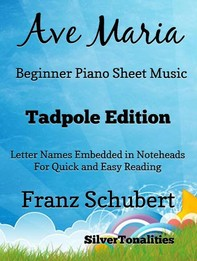 Ave Maria Beginner Piano Sheet Music Tadpole Edition - Librerie.coop