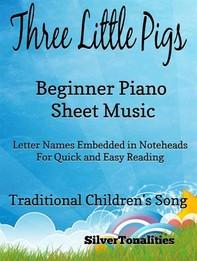 Three Little Pigs Beginner Piano Sheet Music - Librerie.coop