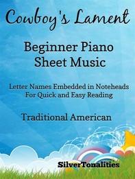Cowboy's Lament Beginner Piano Sheet Music - Librerie.coop