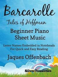 Barcarolle Tales of Hoffman Easiest Beginner Piano Sheet Music - Librerie.coop