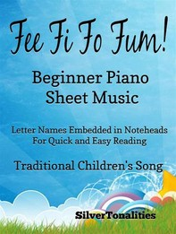 Fee Fi Fo Fum Beginner Piano Sheet Music - Librerie.coop