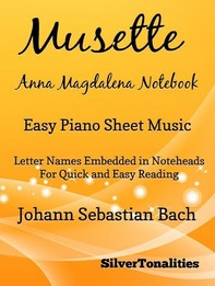 Musette Anna Magdalena Notebook Easy Piano Sheet Music - Librerie.coop