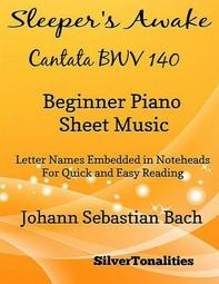 Sleeper's Awake Cantata BWV 140 Beginner Piano Sheet Music - Librerie.coop