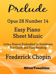 Preude Opus 28 Number 14 Easy Piano Sheet Music - Librerie.coop