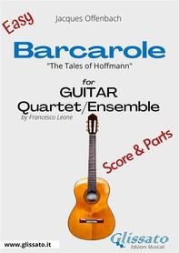 Barcarole - Easy Guitar Quartet score & parts - Librerie.coop