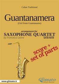 Guantanamera - Saxophone Quartet score & parts - Librerie.coop