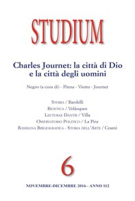 Studium - Charles Journet: la città di Dio e la città degli uomini - Librerie.coop