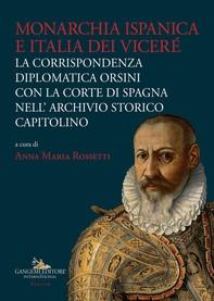 Monarchia ispanica e Italia dei Viceré - Librerie.coop