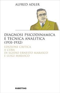 Diagnosi psicodinamica e tecnica analitica (1931-1932) - Librerie.coop