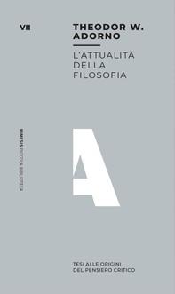 L'attualità della filosofia - Librerie.coop
