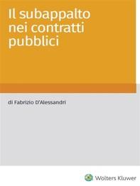 Il subappalto nei contratti pubblici - Librerie.coop