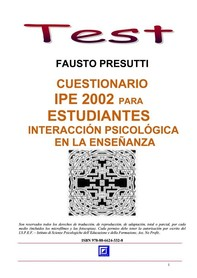 Cuestionario IPE 2002 para Estudiantes - Librerie.coop