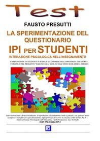 La Sperimentazione del Questionario IPI per Studenti  - Librerie.coop