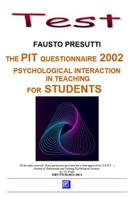 The PIT Questionnaire 2002  for Students - Librerie.coop