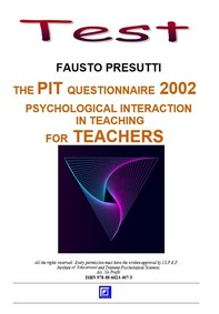 The PIT Questionnarie 2002 for Teachers - Librerie.coop
