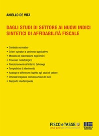 Dagli studi di settore ai nuovi indici sintetici di affidabilità fiscale - Librerie.coop