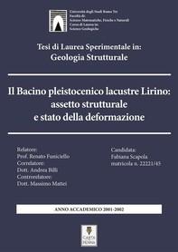 Il bacino pleistocenico lacustre Lirino: assetto strutturale e stato della deformazione - Librerie.coop
