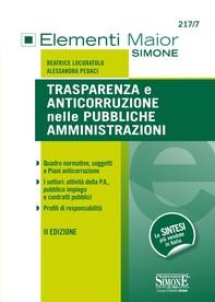 Trasparenza e Anticorruzione nelle Pubbliche Amministrazioni - Librerie.coop