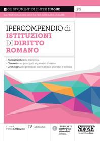 Ipercompendio Istituzioni di Diritto Romano - Librerie.coop