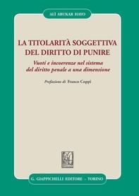 La titolarità soggettiva del diritto di punire - Librerie.coop