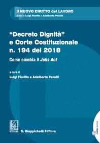 """""""Decreto Dignità"""" e Corte Costituzionale n. 194 del 2018 - Librerie.coop"""