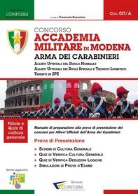 017A   Concorso Accademia Militare di Modena Arma dei Carabinieri (Prova di Preselezione) - Librerie.coop